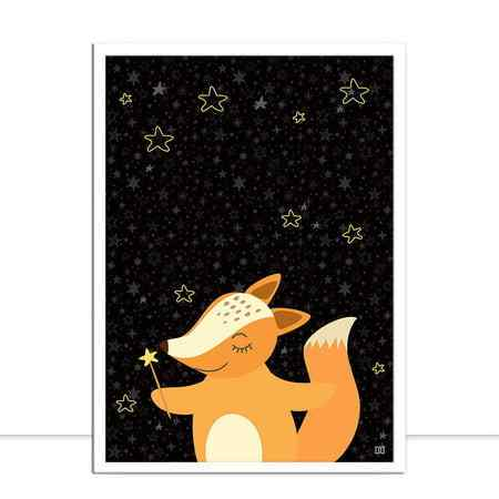 LITTLE FOX BLACK por Dot Dugeau