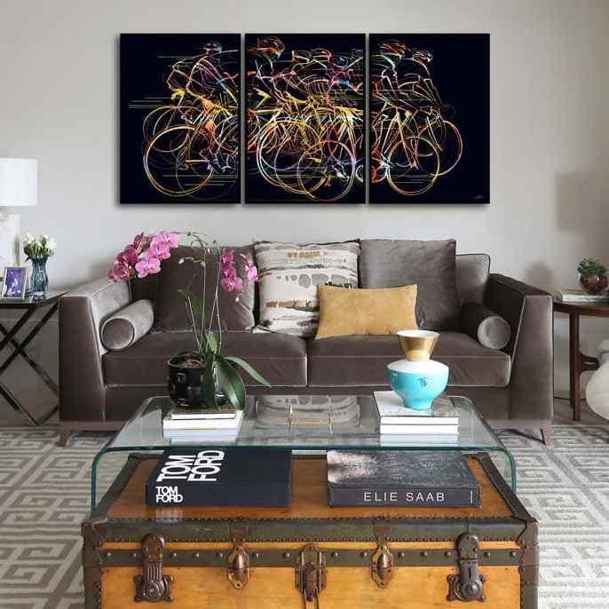 Conjunto de Quadros Bike Moving por Joel Santos