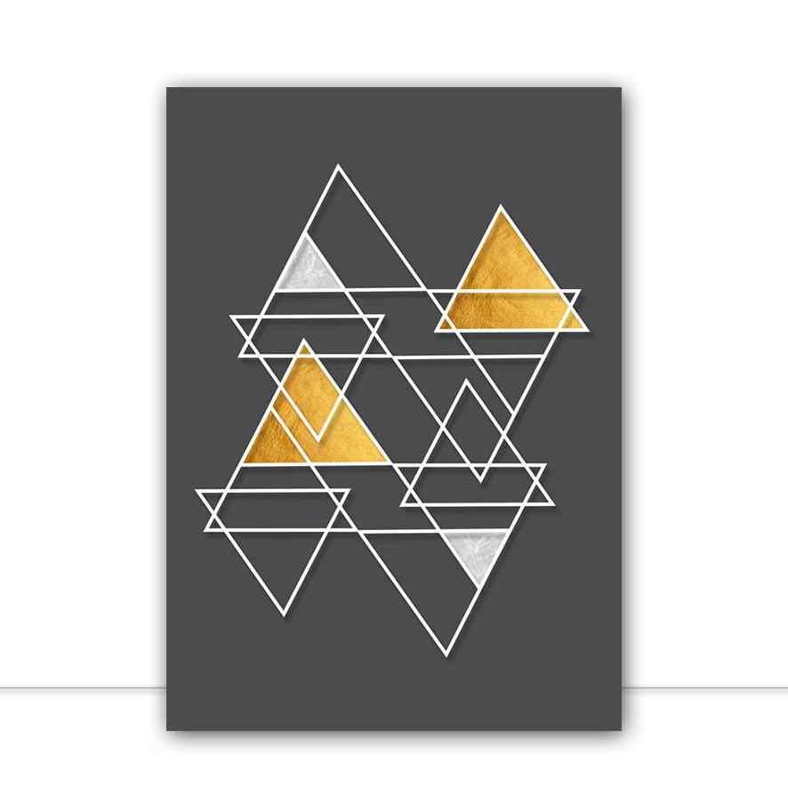 Quadro Triangulares Preto por Larissa Ferreira