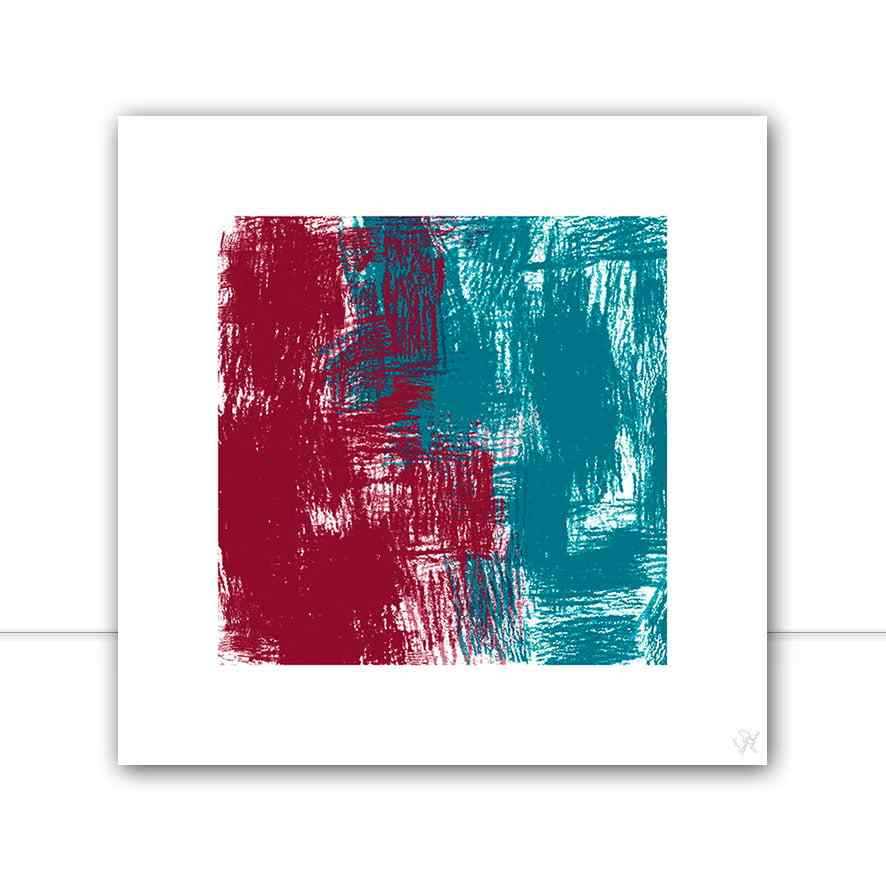 Quadro Abstract red and blue por Isadora Fabrini