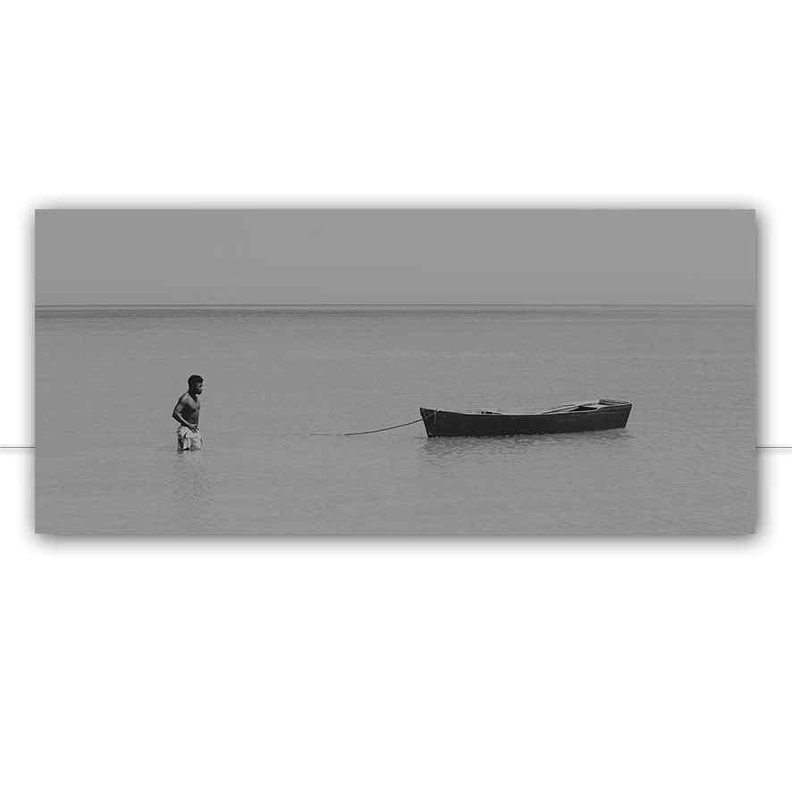 Quadro Homem E Canoa por Felipe Hoffmann