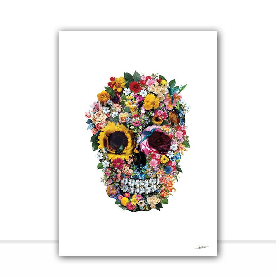 Quadro Skullk Clean Flower por Joel Santos