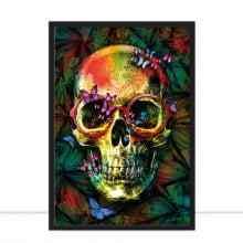Skull Botanical Pop por Joel Santos