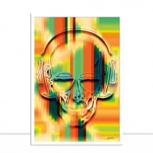 Skull Pixel por Joel Santos