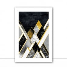 Geométrico P&B Gold III por Joel Santos