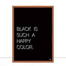 Black is such a happy color por Dot Dugeau
