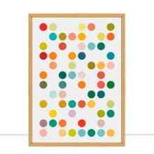 Quadro Círculos coloridos II por Vitor Costa