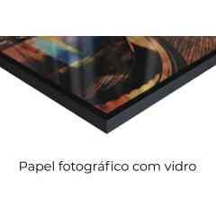 Quadro Quadrados aquarela por Vitor Costa