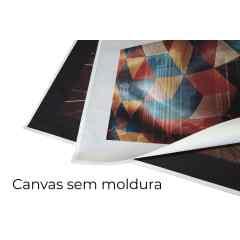 Quadro Azul e vermelho X por Vitor Costa