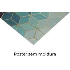 Composição de quadros Verde e Madeira