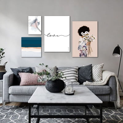 Composição de quadros Delicate Love