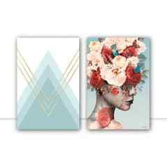Composição de quadros Florecer