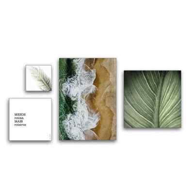 Composição de quadros Mar e Verde