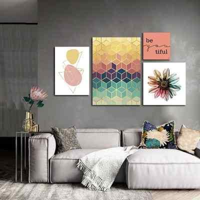 Composição de quadros Mosaico Rose