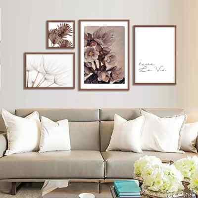 Composição de quadros Nude Flowers