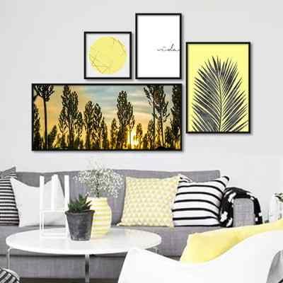 Composição de quadros Yellow Nature