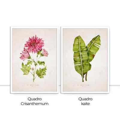Conjunto de Quadro Crisanthemum Kaite por Rafaella Schmitt