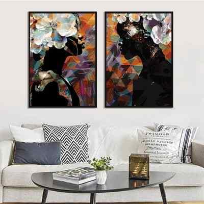 Conjunto de quadros African Flower Colours por Joel Santos