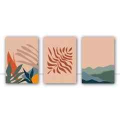 Conjunto de quadros Bold Forest por Bruna Deluca