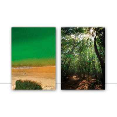 Conjunto de quadros Cachoeira do Bom Jesus, Luz e Magia Da Natureza por Bernardo Aquino