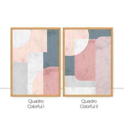 Conjunto de quadros Colorful I e II por Fer Harbs