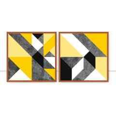 Conjunto de quadros Geométrico Amarelo por Juliana Bogo