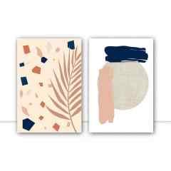 Conjunto de quadros Granilite Rose por Bruna Polessi