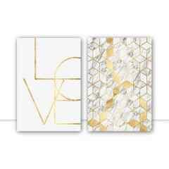 Conjunto de quadros - Love Mosaico por Vitor Costa