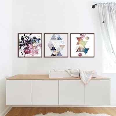 Conjunto de Quadros Marble Abstrato por Janaina Lima Luz