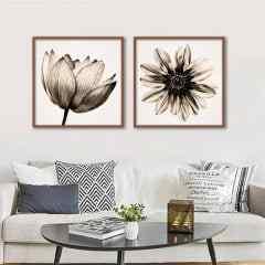 Conjunto de quadros Multicolor Flower Sepia por Juliana Bogo