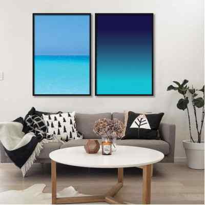Conjunto de quadros Ocean por Juliana Bogo