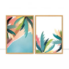 Conjunto de quadros Palm Tree por Bruna Deluca