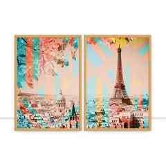 Conjunto de Quadros Paris Composeé por Joel Santos
