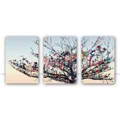 Conjunto de Quadros para Sala Trio Dry Tree por Joel Santos