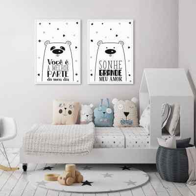 Conjunto de Quadros Urso Grande e Urso Melhor por Dot Dugeau