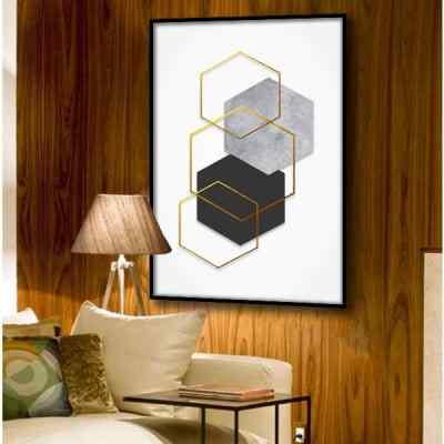 Quadro Hexagonais Concretos por Larissa Ferreira