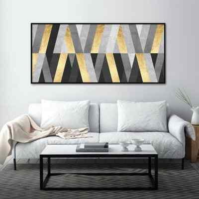 Quadro Linhas Douradas I por Vitor Costa