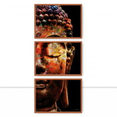 Conjunto de Quadros Buddha Color Trio por Joel Santos