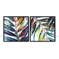 Conjunto de Quadros Foliage Multi Color Q I e II por Joel Santos
