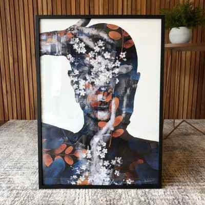 Quadro Flowers in Thoughts III por Joel Santos em Papel Fotográfico c/ vidro - 50x70cm