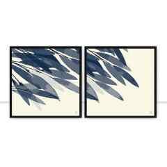 Conjunto de quadros Blue Foggy por Joel Santos