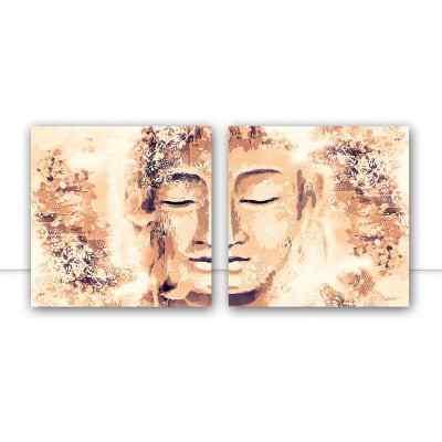 Conjunto de Quadros Buddha New  Sépia Q por Joel Santos