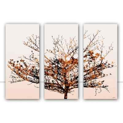 Conjunto de Quadros Dry Tree Ocre por Joel Santos
