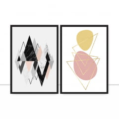 Conjunto de quadros - Formas escandinavas por Vitor Costa
