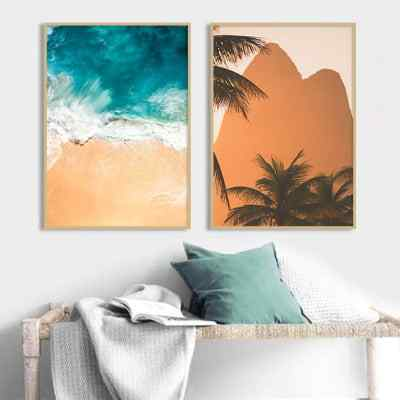 Conjunto de Quadros Simetria no Mar e Ipanema Sunset por Hittheroadfred