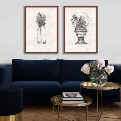Conjunto de quadros Terrarium por Rafaella Schmitt