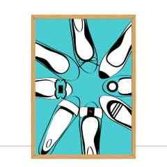 Quadro Blue Balerinas por Martina Pavlova