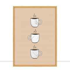Quadro Cafezinho Marmorizado por Larissa Ferreira