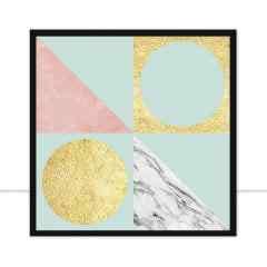 Quadro Composição Geométrica IX por Vitor Costa