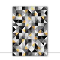 Quadro Composição Triangular VI por Vitor Costa